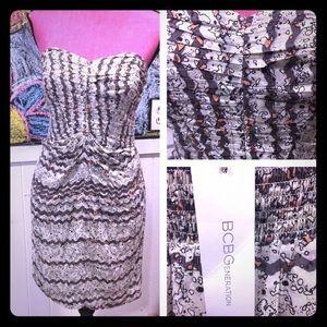 BCBG NWT strapless flirty dress
